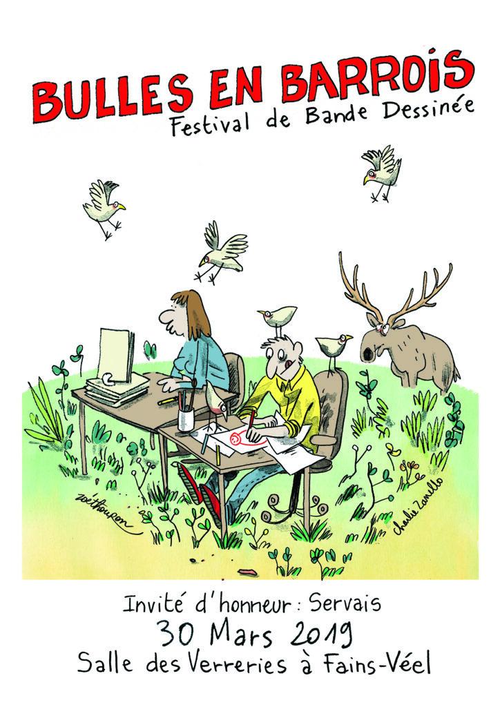 Affiche festival BD Bulles en Barrois 2019